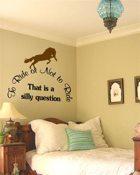 horse decorations for bedroom horse decal pony quote wall sticker teen girls room decal