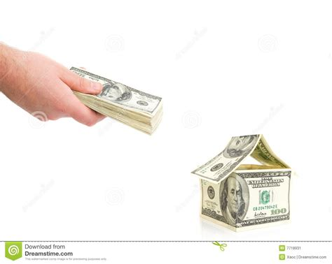paying cash for a house man paying with cash stock image image 7718931