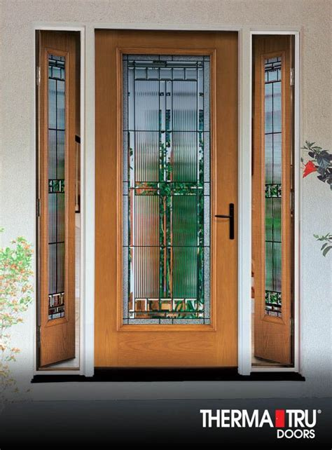 therma tru exterior doors fiberglass therma tru fiber classic oak collection fiberglass door