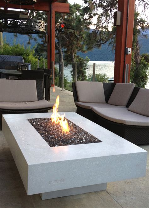 White Table Top Concrete Fire Tables Fired Earth Inc