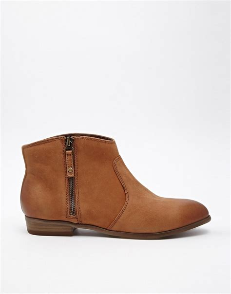 aldo aldo oneriwien zip side flat ankle boots at asos