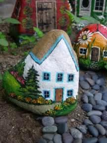 Painted Garden Rocks Rock Painting Flowers Garden