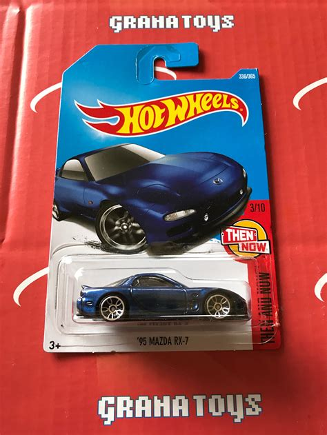 Wheels 95 Mazda Rx 7 Rx7 Hotwheels Biru Hw Blue 95 mazda rx 7 336 blue 2017 wheels p new 1