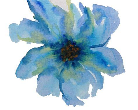 water color flower blue flower watercolor artists watercolor