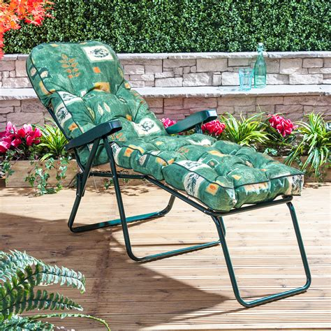 alfresia luxury garden sun lounger cushion