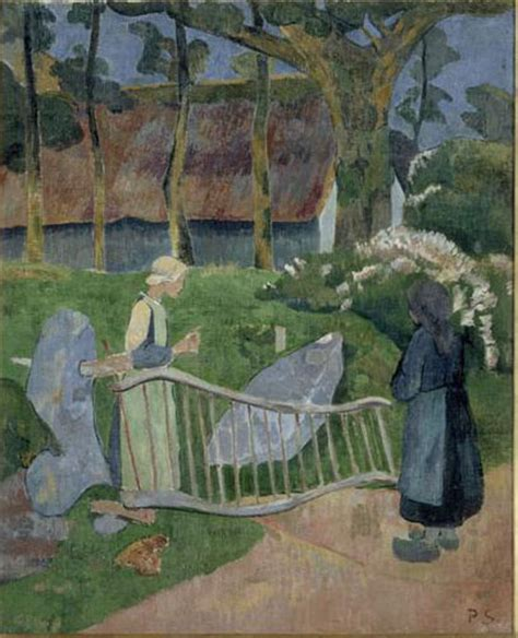 barriere de jardin 1910 la barri 232 re fleurie le pouldu serusier paul 1863 1927