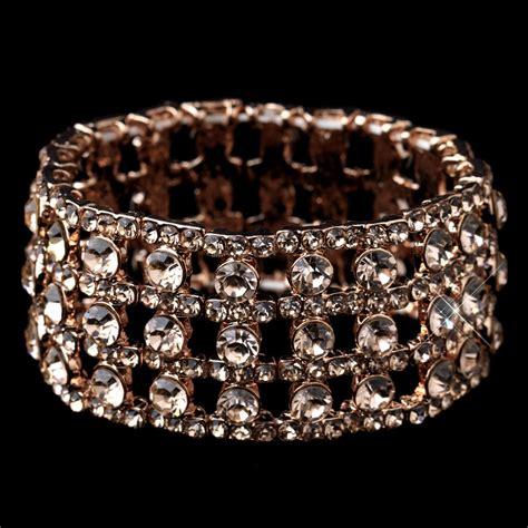 Rhinestone Bracelet gold rhinestone stretch bracelet