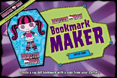 printable monster high bookmarks bookmark maker monster high wiki