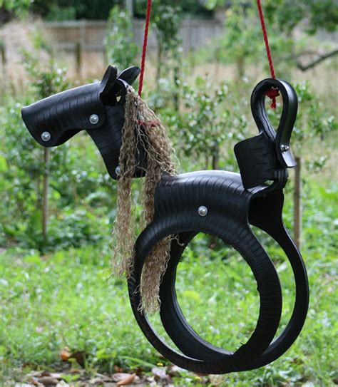 recycled tire swing horse horse tire swing farm ideas pinterest