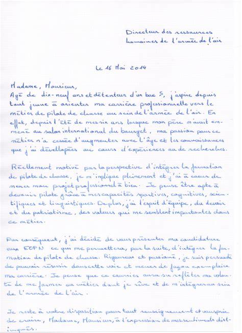 Lettre De Motivation De Militaire Constitution De Mon Dossier De Candidature Aux Eopn My In The Air