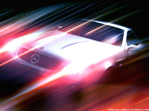 Car Photoshop Effects by Fast Speed Lighting Effect