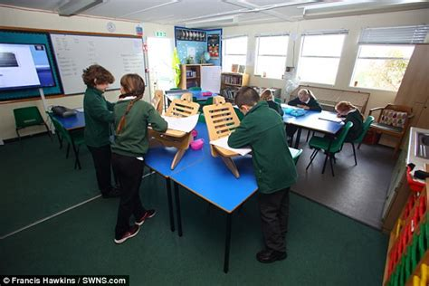 Standing Desk Research by Somerset School Uses Standing Desks To Beat Obesity Daily Mail
