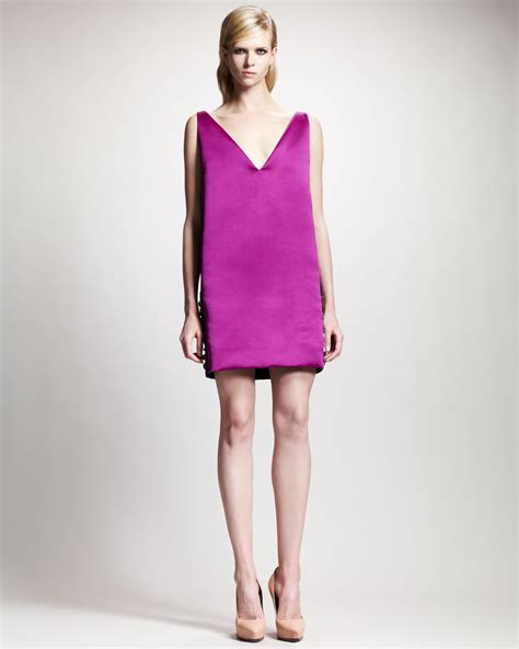 Lanvin Vs Topshop by Lyst Lanvin Two Tone V Neck Shift Dress In Pink