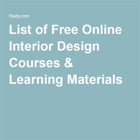 Free Interior Design Classes by 17 Best Ideas About Interior Design Courses On How To Become An Interior
