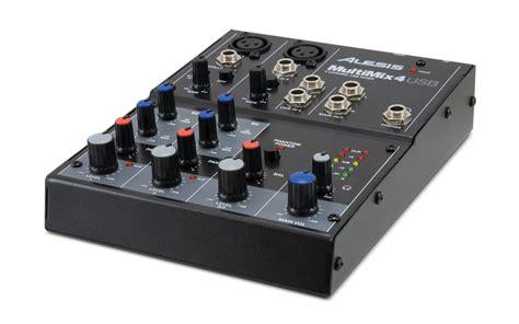 Mixer 4 Chanel Bekas alesis multimix 4 usb 4 channel mixer altomusic
