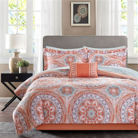 24 piece bedding set serenity coral 24 piece comforter set king comforter sets coordinating shams
