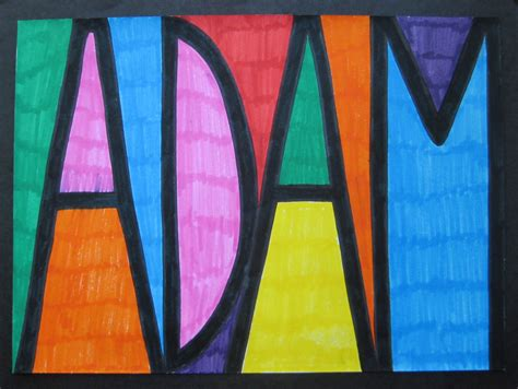 layout project names stained glass name designs teachkidsart