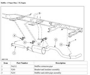 97 F150 Exhaust System Diagram 1990 Ford Ranger Exhaust Diagram 1990 Get Free Image