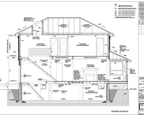 section of a house plan inspiring house design in detailed layout astonishing house section plan three