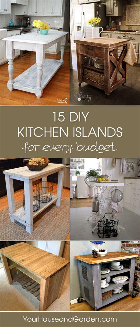 gorgeous diy kitchen islands   budget