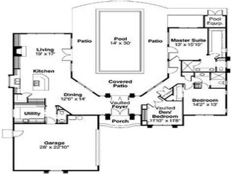 house plans with indoor swimming pool pool house plans with courtyard indoor swimming pools