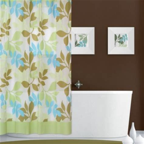 light blue and brown shower curtain buy light blue and brown curtains from bed bath beyond