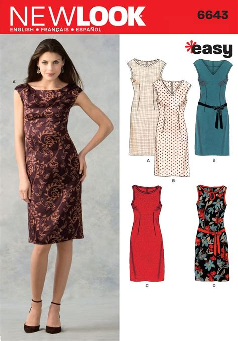 dress pattern finder womens dresses pattern 6643 new look patterns my style