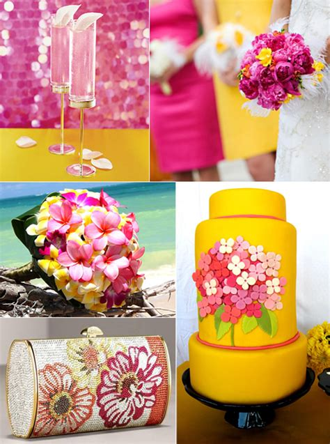 inspiration fuschia yellow wedding theme project wedding forums