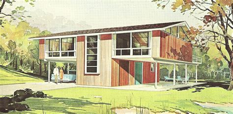 vintage house plans 1960s vivacious vacation homes