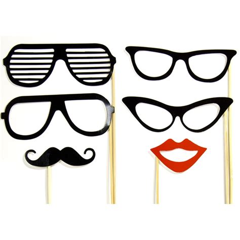 Photo Booth Prop Templates Glasses