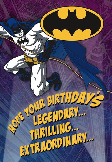 Batman Legendary  Ee  Birthday Ee   Card Greeting Cards Hallmark