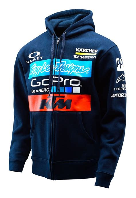 Hoodie Zipper Team Tsm 2 troy ktm team zip up hoody revzilla