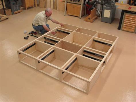 free king bed frame woodworking plans