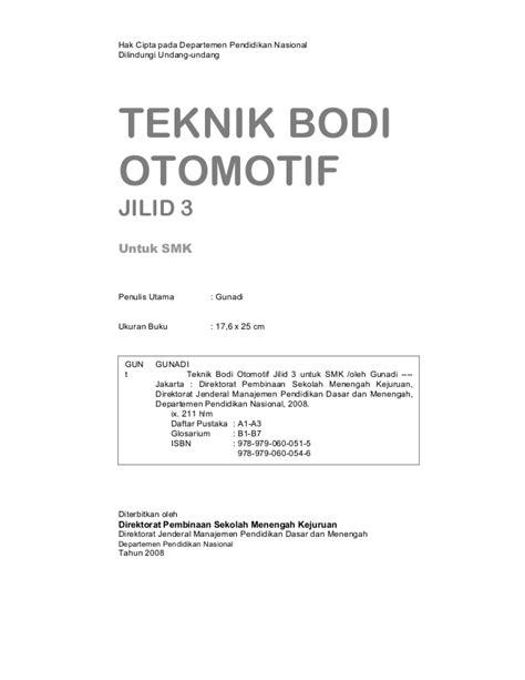 Buku Pengenalan Bodi Otomotif Tl teknik bodi otomotif jilid 3