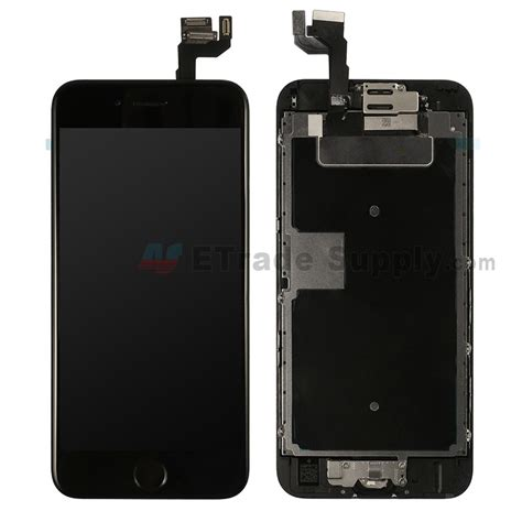 apple iphone 6s lcd assembly with frame and home button black etrade supply
