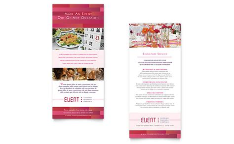 Event Card Template by Corporate Event Planner Caterer Rack Card Template Design