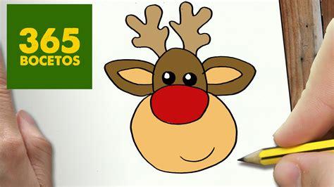 imagenes navidad renos como dibujar un reno para navidad paso a paso dibujos