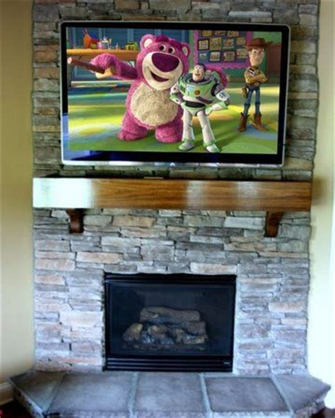 60 Inch Tv Fireplace by 19 Best Images About Tv Above Fireplace On Brick Fireplaces Fireplaces And Mount Tv