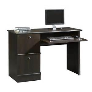 sauder select computer desk cinnamon cherry 408995
