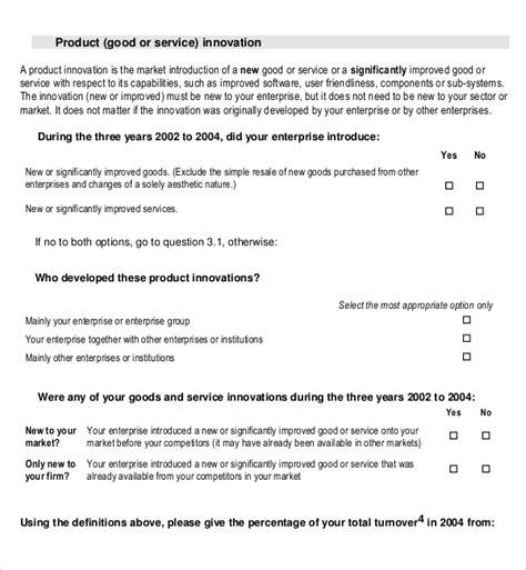 product survey template download free premium