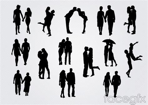14 romantic silhouette vector over millions vectors