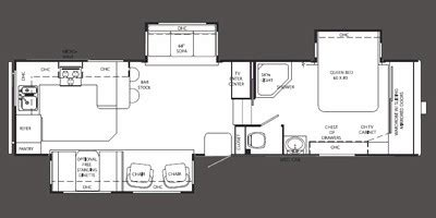 holiday rambler fifth wheel floor plans 2010 holiday rambler savoy lx fifth wheel series m 32rkt