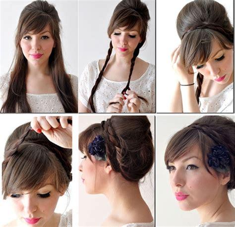 tutorial cara kepang rambut sendiri pin sanggul rambut sendiri cara menyanggul modern