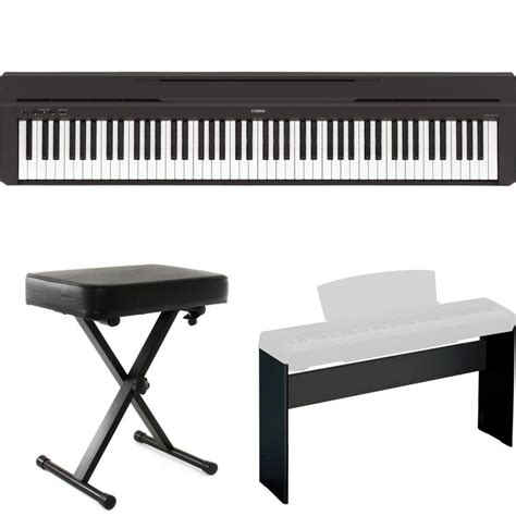 electric piano stand and bench yamaha p 45 digital piano black with stand and bench