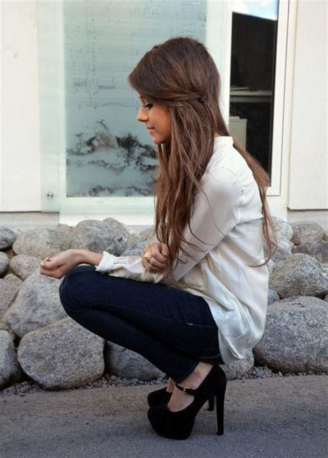 What Type Of Shoo Is For Hair by Black High Heels Brown Hair Pretty Image
