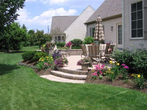 landscaping around patio outdoors pinterest