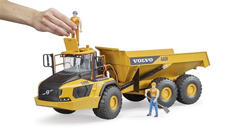 volvo bruder toys partner   scale volvo hauler  toy book