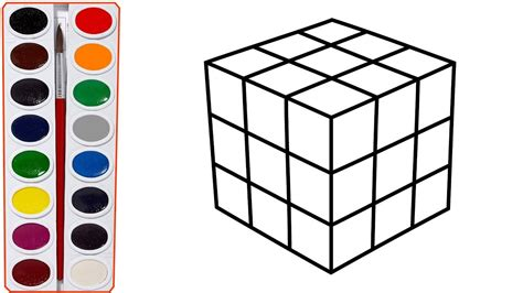 how to draw rubik s cube teach drawing for