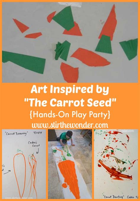 themes of book wonder art inspired by the carrot seed carrot seeds carrots