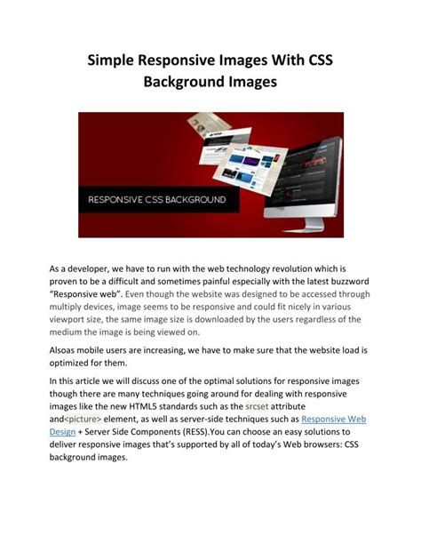 css layout ppt ppt simple responsive images with css background images